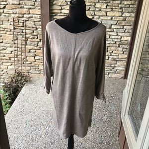 NWT Long sleeved light brown dress